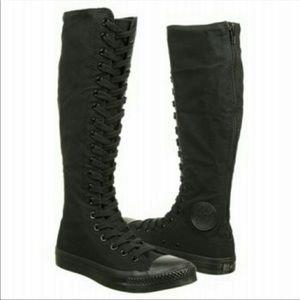 Converse All Star BLACK Knee High Sneaker M 5 W 7